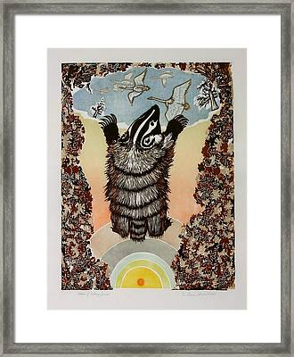 Moon Of Falling Leaves Framed Print