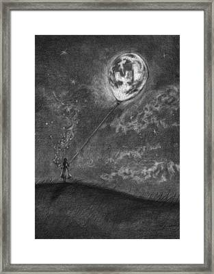 Moon On A String Framed Print by J Ferwerda