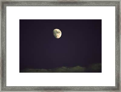 Moon On Blue Framed Print by Kevin  Sherf