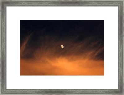 Moon On Fire Framed Print by Mandy Wiltse