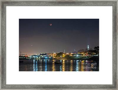 Moon Over Aquatic Park Framed Print