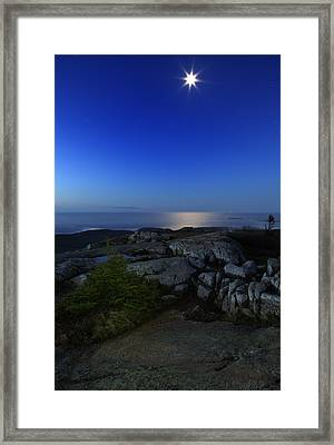 Moon Over Cadillac Framed Print by Rick Berk