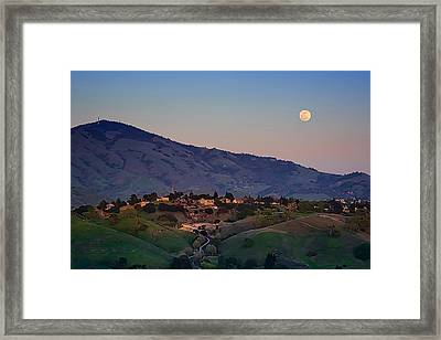 Moon Over Diablo Framed Print