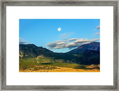 Moon Over Electric Mountain Framed Print