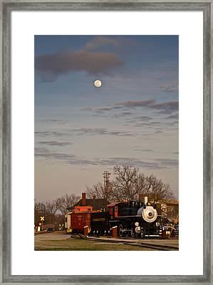 Moon Over Engine 509 Framed Print by Douglas Barnett