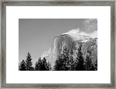 Moon Over Half Dome Framed Print