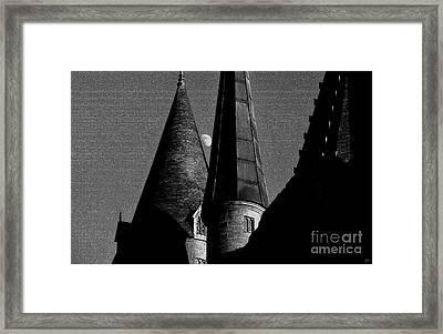 Moon Over Hogwarts Framed Print by David Lee Thompson