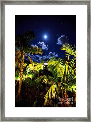 Moon Over Islands Framed Print by Rick Bragan
