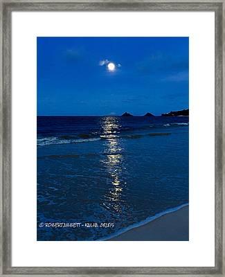 Moon Over Kailua Framed Print by Robert Abbett