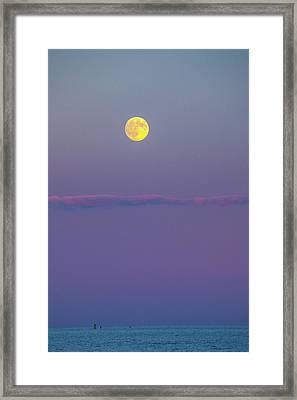 Moon Over Framed Print by Karol Livote