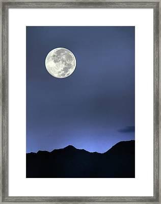 Moon Over Ko'olau Framed Print