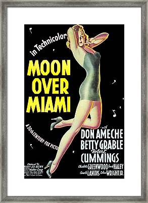 Moon Over Miami, Betty Grable, 1941 Framed Print by Everett