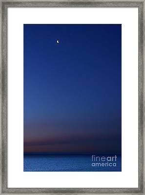 Moon Over Michigami Framed Print by Thomas R Fletcher