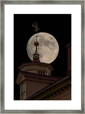 Moon Over Mount Vernon Framed Print