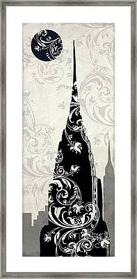 Moon Over New York Framed Print by Mindy Sommers