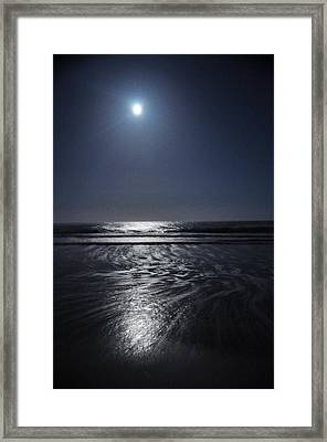 Moon Over Ocracoke Framed Print by Jeff Moose