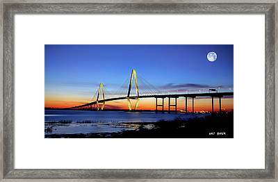 Moon Over Ravenel Framed Print
