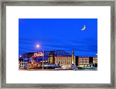 Moon Over Sands Framed Print