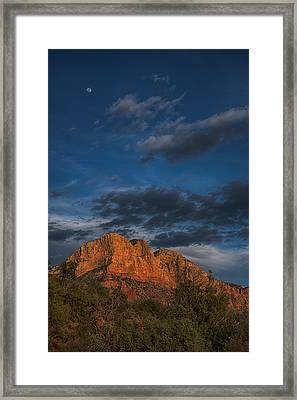 Moon Over Sedona Framed Print