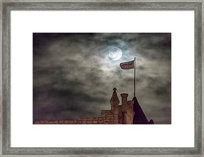 Moon Over The Bank Framed Print