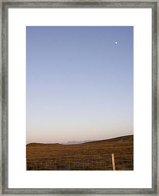 Moon Over The Cuillins Framed Print by Dan Andersson