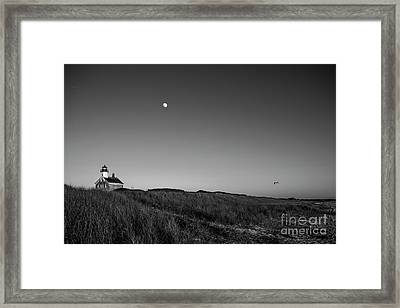 Moon Over The North Light Framed Print