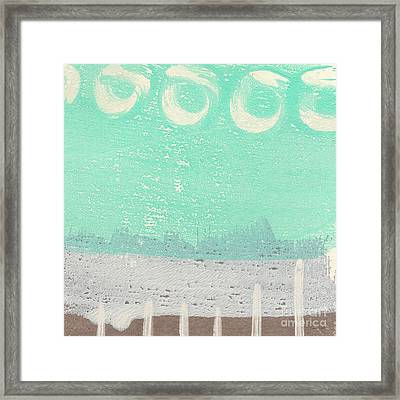 Moon Over The Sea Framed Print by Linda Woods