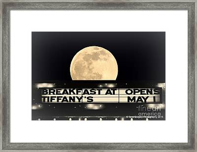 Moon Over Tiffany's Framed Print