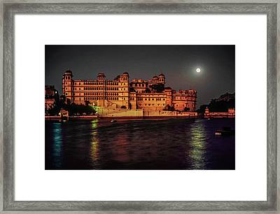 Moon Over Udaipur Framed Print by Steve Harrington