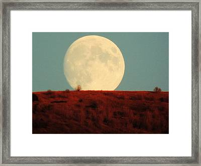 Moon Over Utah Framed Print by Charlotte Schafer