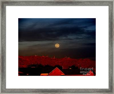 Moon Over Yuma Framed Print by Greg Patzer