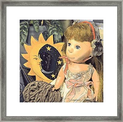 Moon Pearl Framed Print