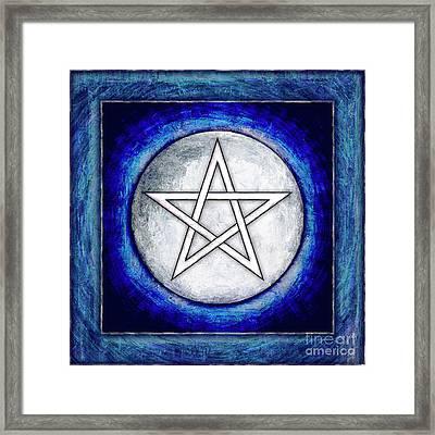 Moon Pentagram Framed Print