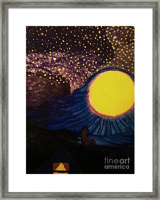 Moon Pieces  Framed Print