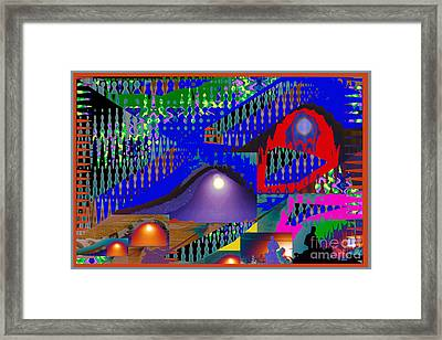 Moon Reflections On Mountains Abstract Graphic Paint Download For Personal N Commercial Projects Fun Framed Print