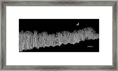 Moon Rise Over Night Ridge Framed Print by Claudia O'Brien