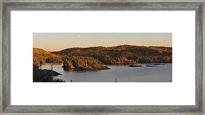 Moon Rise Over Pukaskwa Framed Print