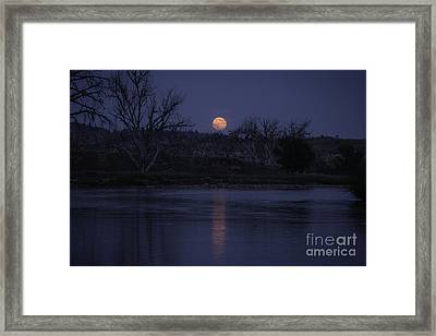 Moon Rise Over The Tongue Framed Print