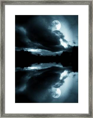 Framed Print featuring the photograph Moon Rising by Aaron Berg
