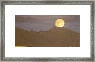 Framed Print featuring the painting Moon Rising by Betty-Anne McDonald
