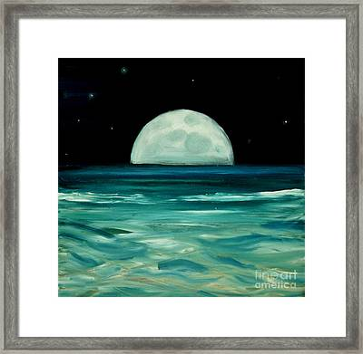 Moon Rising Framed Print by Caroline Peacock