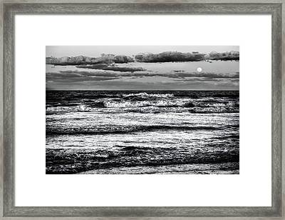 Framed Print featuring the photograph Moon Rising  by Louis Ferreira