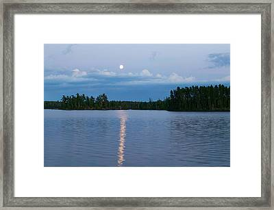 Moon Rising Over Lake One, Water Framed Print by Panoramic Images