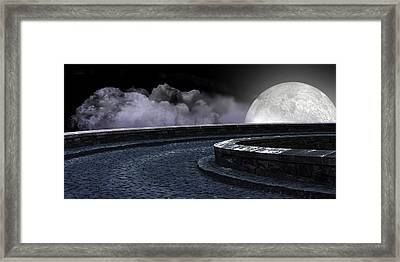 Moon Road 2 Framed Print by Evelyn Patrick
