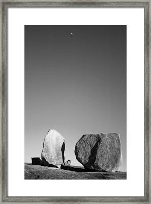 Moon Rocks Framed Print by John Gusky