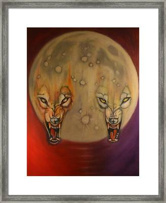 Moon Framed Print by Roger Williamson