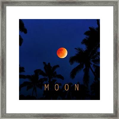 Moon. Framed Print