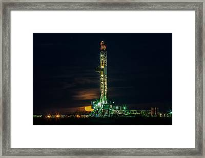 Moon Set Framed Print