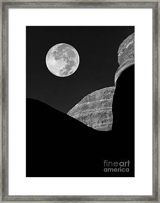 Moon Shadow  Framed Print by Mike Nellums