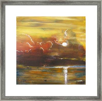 Framed Print featuring the painting Moon Shadows by Gary Smith